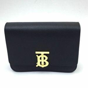 BURBERRY Mini TB Grainy Leather Bag